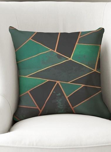 Lyn Home & Decor Yastık Kılıfı Geometrik Yeşil Renkli